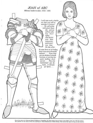 Image result for joan of arc paper doll