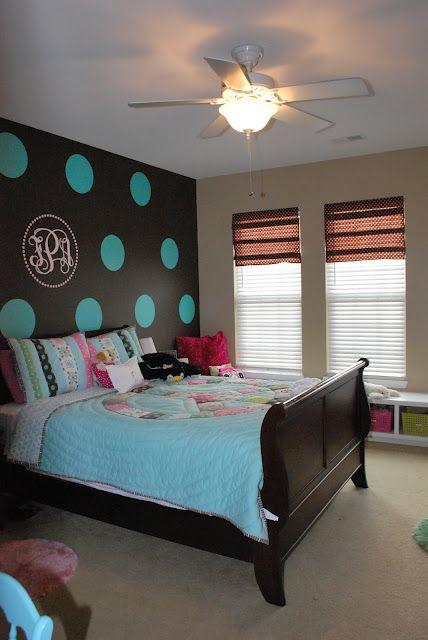 Tween Bedroom With Polka Dot Walls Polka Dot Walls