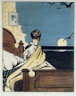 boy and moon, Edward Hopper