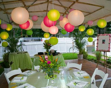 yard party decorations   My Web Value Decorating Ideas For Backyard Party 1 outdoor party decoration Wedding  Ceremony Backyard Tented Weddings Paper Lanterns