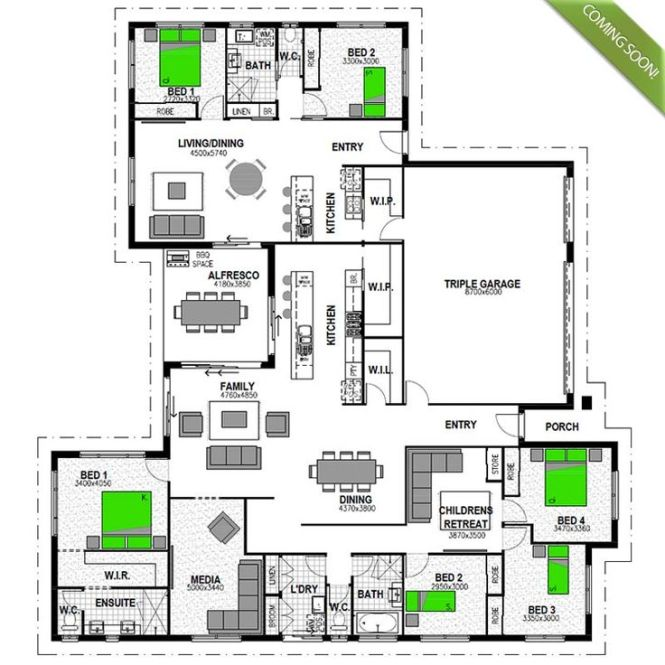 The Highgrove 277 Granny Flat Is A Cleverly Designed Four Bedroom Family Home With An