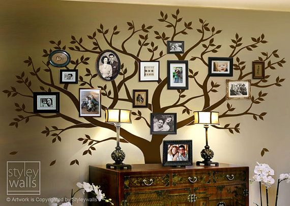 Family Tree Wall Decal, Tree Wall Decal, Photo Frame Tree