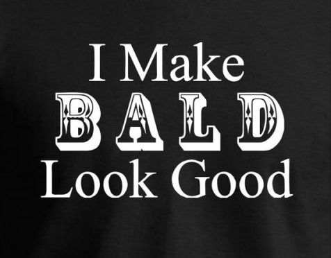 Image result for bold bald head woman
