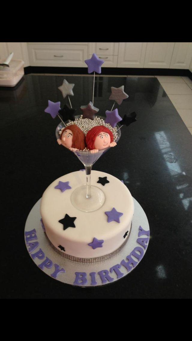 Birthday Cake With Martini Glass Topper 4 Goodness Cake