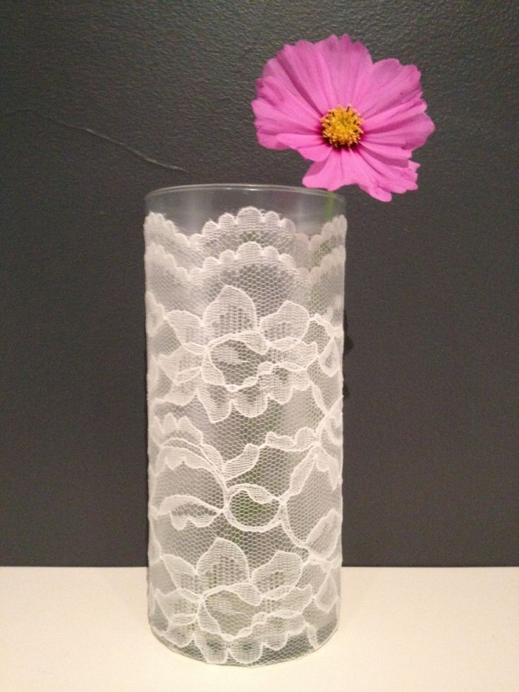 25 Best Ideas About Lace Vase On Pinterest Diy Wedding