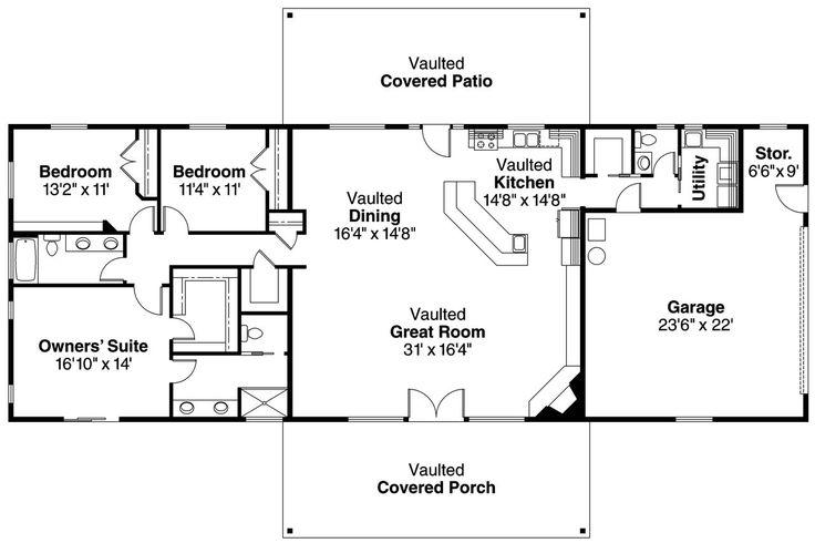 25+ Best Ideas About Ranch Floor Plans On Pinterest