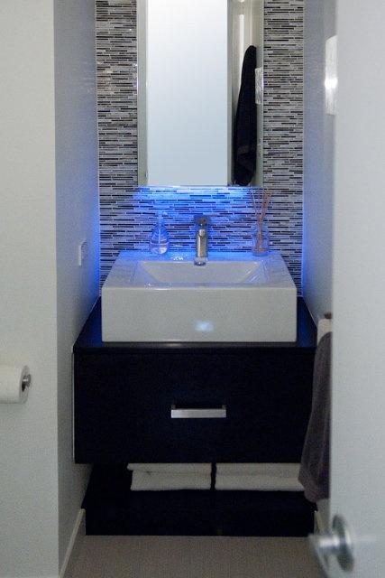 Blue LED Strip Light Over Sink Httpwwwled Light Strip