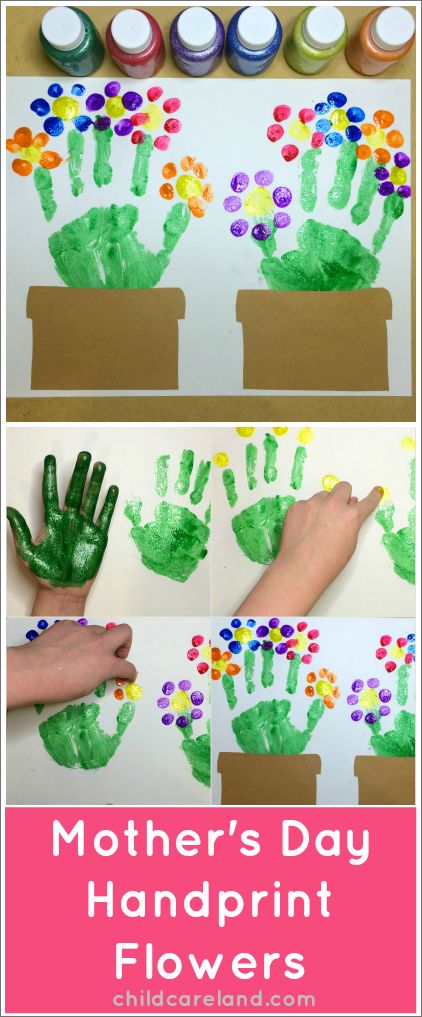 Mother's Day Handprint Flowers … love these!!