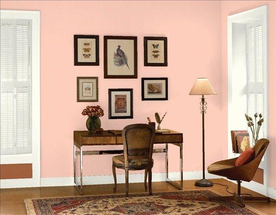 coral buff color office wall benjamin moore kathy s on benjamin moore office colors id=37906