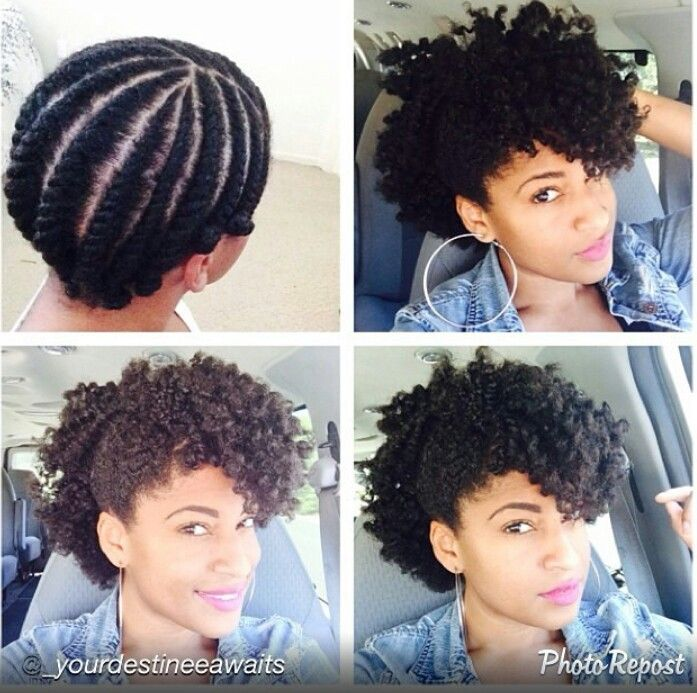 Flat Twist Out Style 4c Natural Hair Pinterest Clip