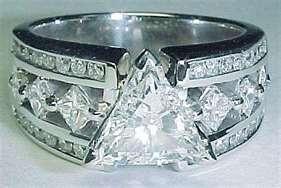 trillion cut diamond ring love it
