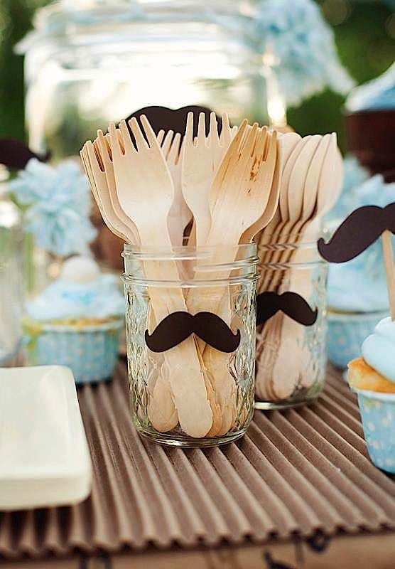 Cute idea – maybe do a mustache for a boy and a bow for a girl?