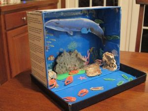 shoebox diarama | Shoebox Ocean Diorama | School projects, diaramas | Pinterest | The box