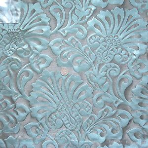 Superb Quality Duck Egg Blue And Silver Curtain Fabric Craft Material Crafts Fabric Crafts