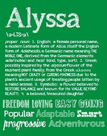 56 Best Images About My Name Alyssa On Pinterest