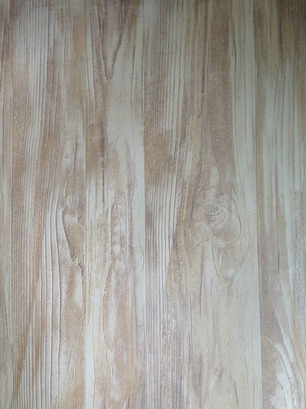 Realistic Lime Washed Effect Wood Panel Wallpaper For