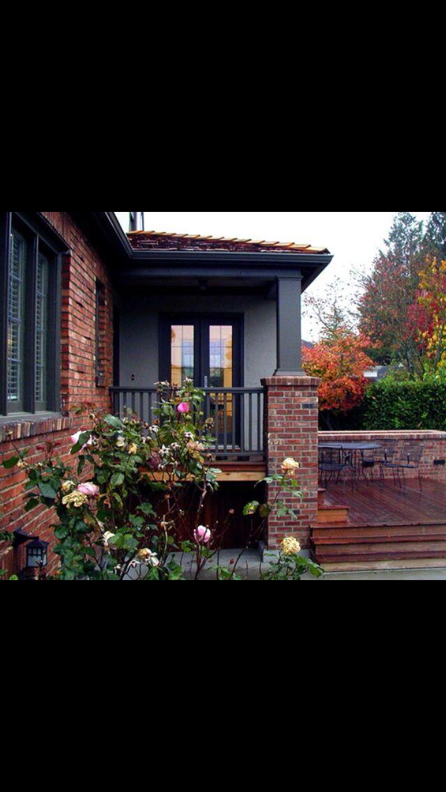 Brick And Cedar With Stone Grey Exterior Paint Modern