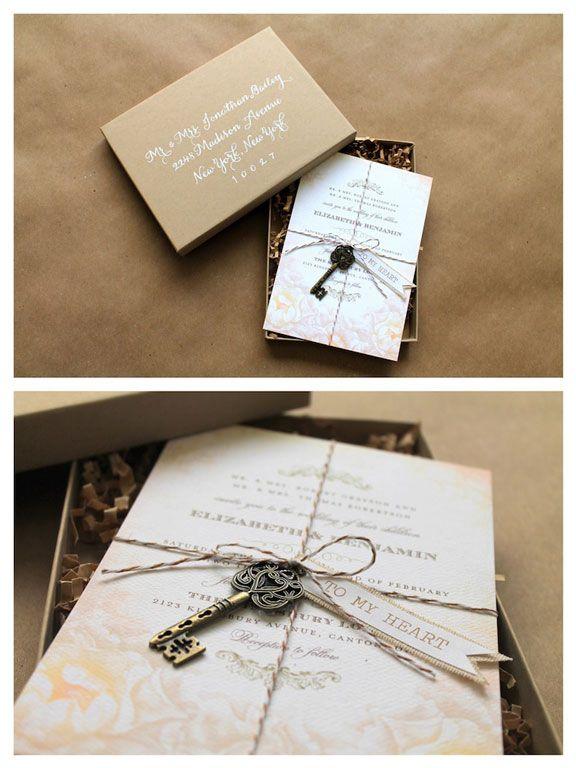 Rustic Brown Paper Wedding Invitations