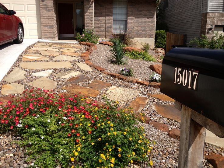 Front yard xeriscaping by Raul Perez Landscaping-- San ... on Xeriscape Backyard Designs  id=91958