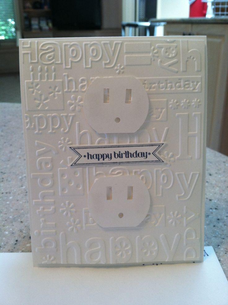 Electrician Birthday CardsStamping Ideas Pinterest