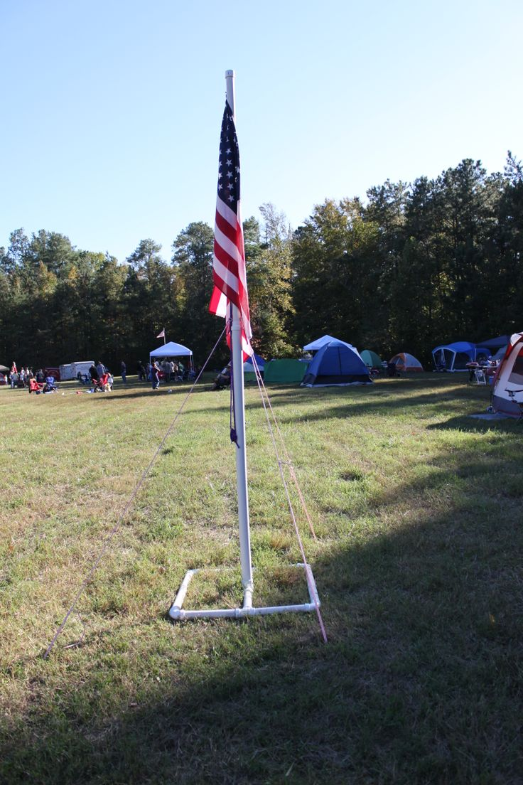 PVC Flag Pole At A Webelos Ree The Flag Was A 3 X 5 Size A Dens Own Personal Flag Scouts