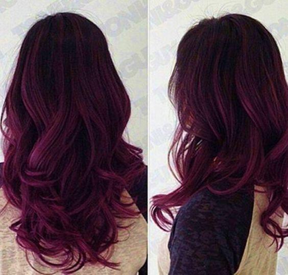 Dark Purple Ombre Hair Color
