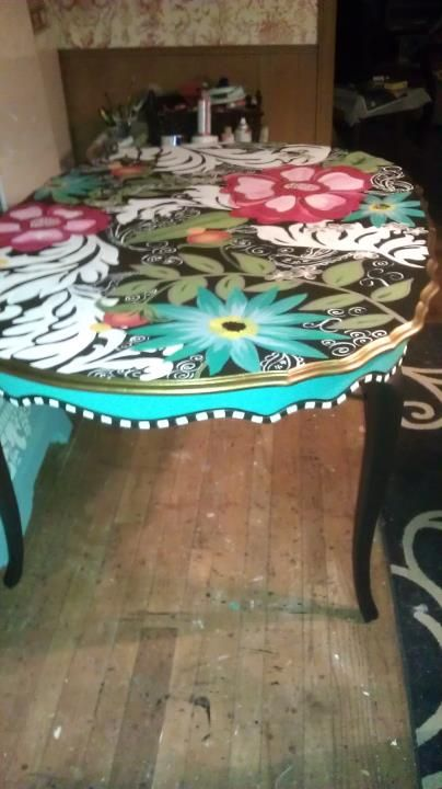hand painted dining table diy pinterest beautiful on hand painted dining room tables id=22157