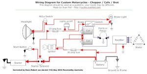 Simple Motorcycle Wiring Diagram for Choppers and Cafe Racers – Evan Fell Motorcycle Works