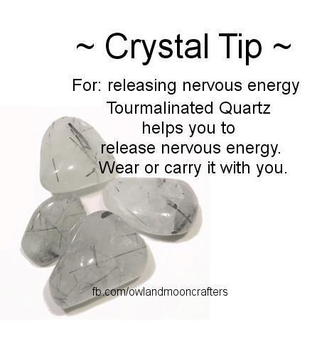To release nervous energy. Tourmalated Quartz Healing Crystal. cleansing, ground