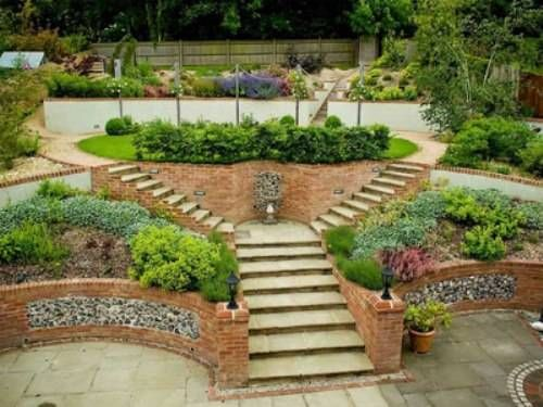10 best images about Sloping Garden Designs on Pinterest ... on Garden Ideas For Sloping Gardens id=64279