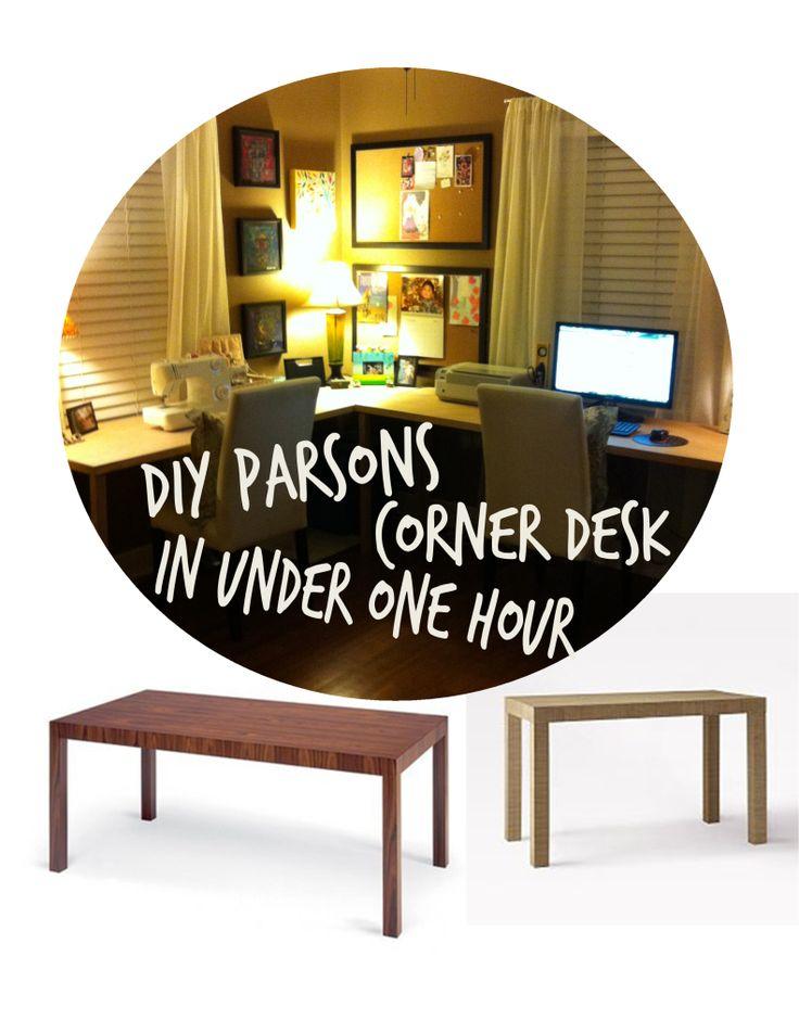 DIY Parsons Corner Desk in
