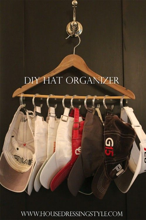 Hat Organizers – 20 Creative Ways to Organize and Decorate with Hangers