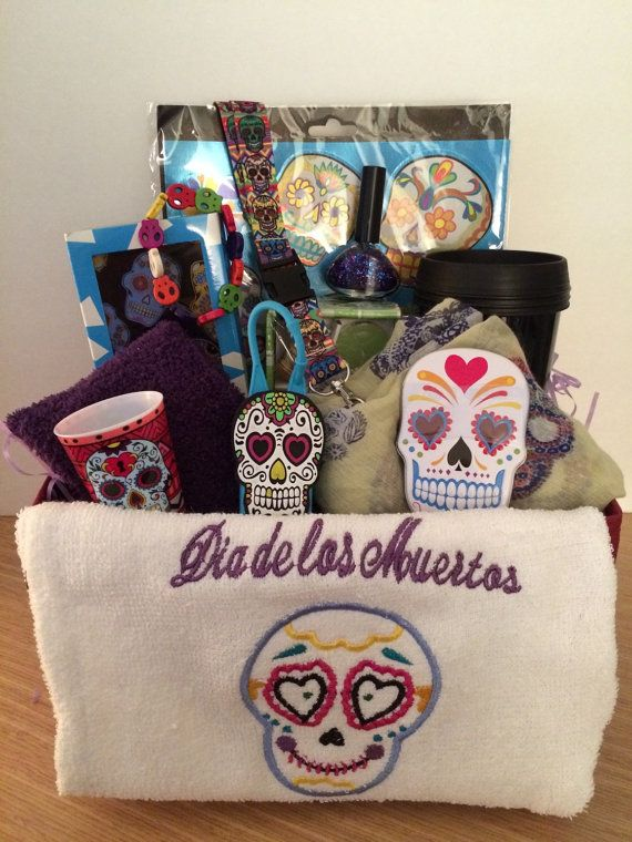 Day Of The Dead Sugar Skull Gift Basket Valentines By
