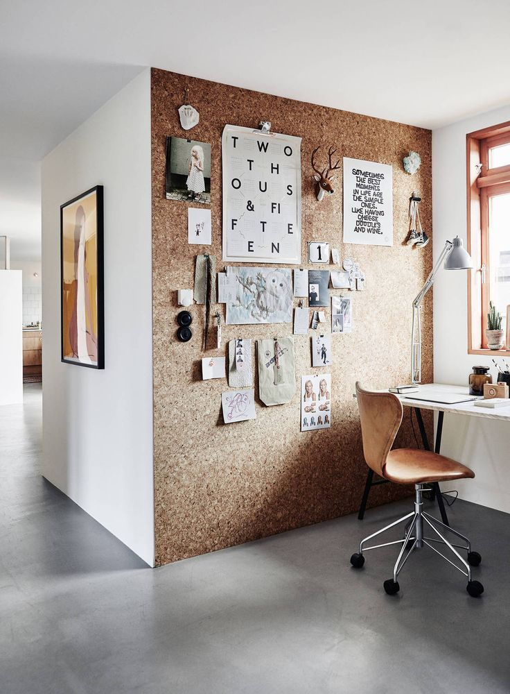 -Workspace with a cork wall- -perfect corner at your home- -enjoy the working environment at home- -i would love to put many