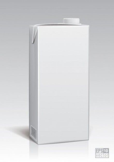 Free Misc Packing Model Vector White Bright Tetrabrick