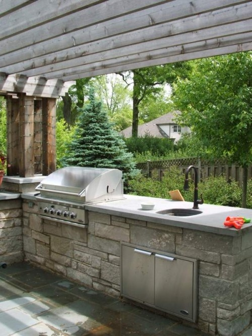 outdoor kitchen for your deck or patio this has become quite common lately in high end homes on zink outdoor kitchen id=21594