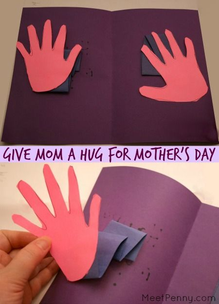 Handprint Crafts for Mother's Day | Mothers, Other and Crafts