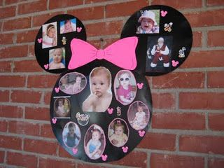 DIY Minnie Mouse Photo Collage #DIY #Party #Parties #Decorations #Decorate #Deco