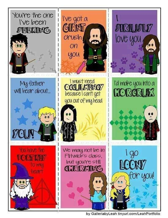 Harry Potter Valentines | DIY projects to try | Pinterest ...
