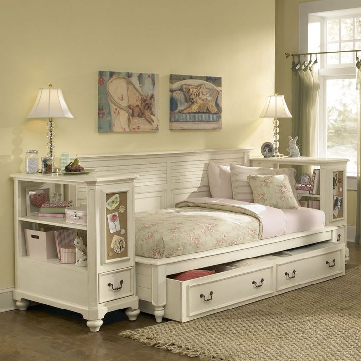 American Drew Retreat White Bookcase Nightstand In Antique