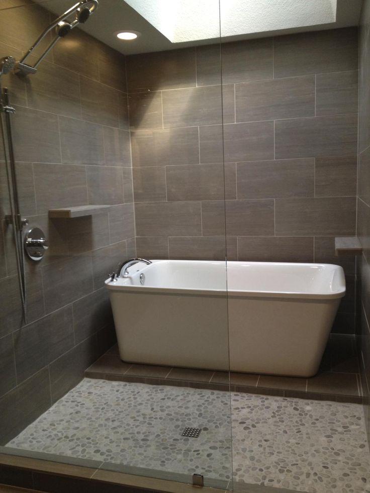 9 best Japanese bathroom design images on Pinterest on Wet Room With Freestanding Tub  id=61907