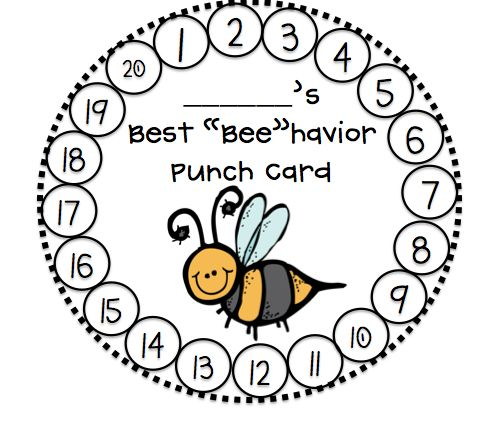 Behavior punch card…working towards a reward of maybe extra computer time? Choice time?