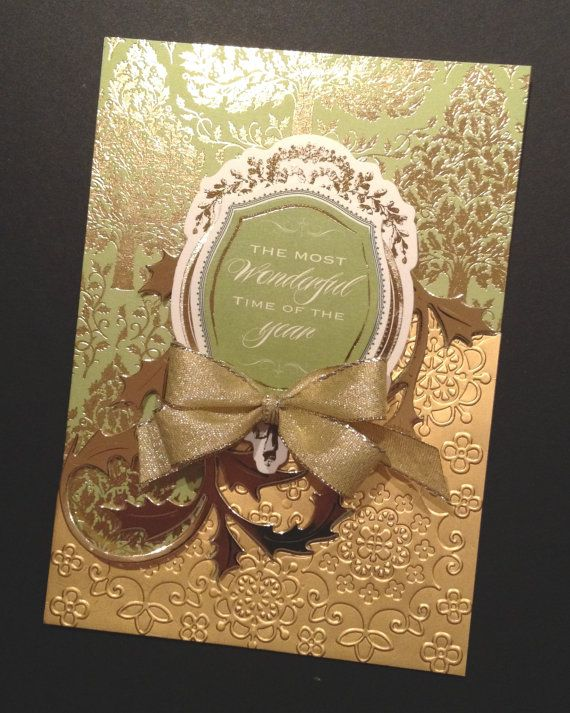 Elegant Dimensional Christmas Card With Gold Foil Anna