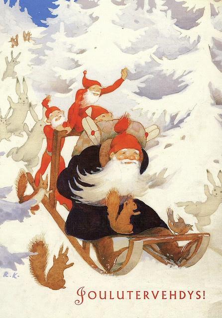 Rudolf Koivu Finland Christmas Greetings Tomte Nisse