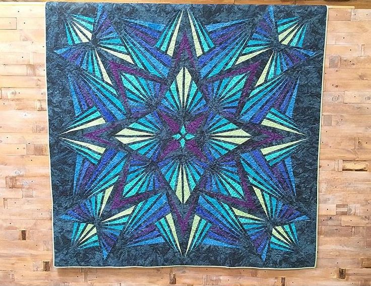 Crystal Blue By Hoffman Quiltkit Quilting Blue