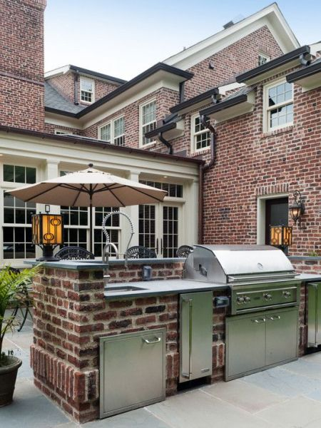 brick patio with outdoor kitchen 1000+ images about Brick Houses on Pinterest   Front doors