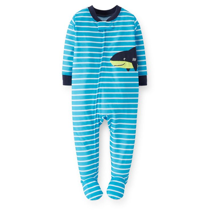 Amazon.com: Carter's Baby Boys 1-piece Jersey Footed Sleeper Pajamas (12-24 Months)(shark): Clothing