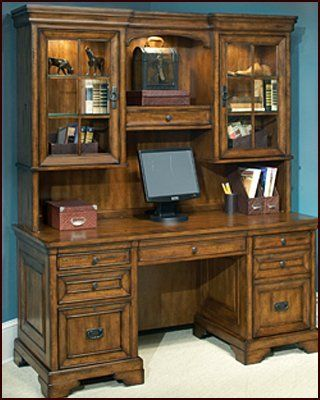 Amazing Executive Desk Hutch Credenza With Set