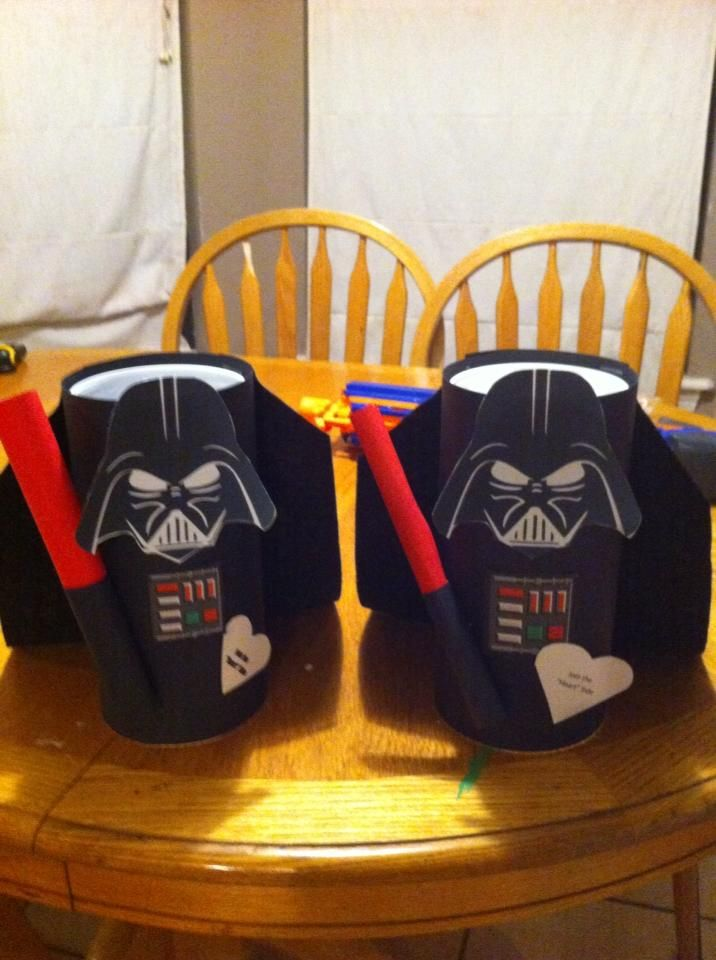 Darth Vader Valentine Boxes Made From A Clorox Wipe