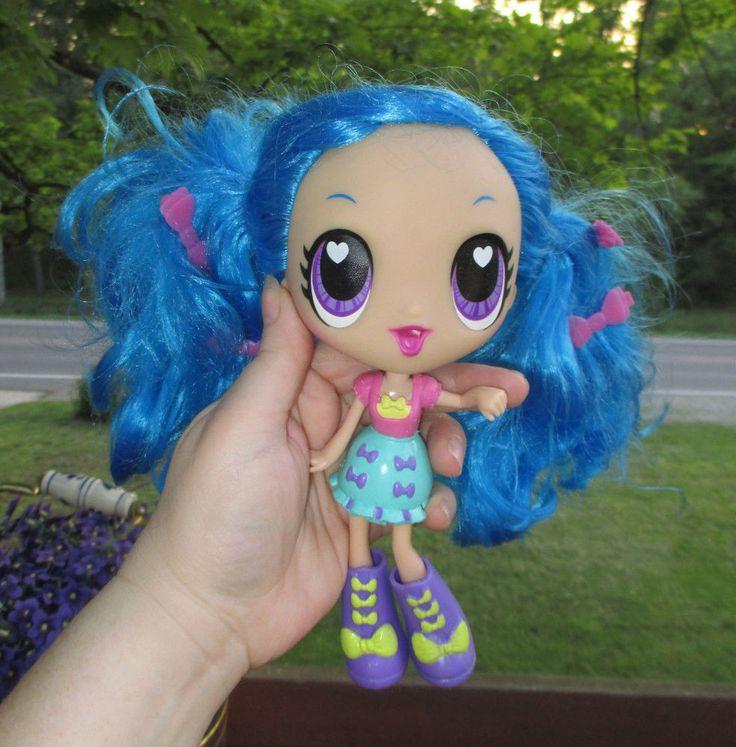 SML Spinmaster BLUE HAIR Doll 8 NICE BIG EYE BLYTHE TYPE